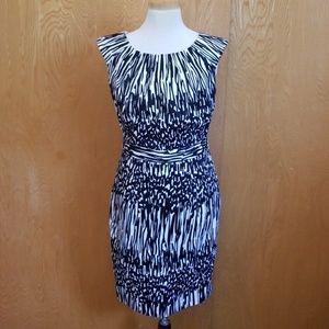 Calvin Klein Black White Dress Formal Size 4